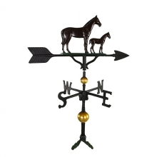 """Old Barn Rustic Co. 32"""" Deluxe Mare and Colt Aluminum Weathervane-1251"""
