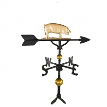 """Old Barn Rustic Co. 32"""" Deluxe Pig Aluminum Weathervane-1307"""