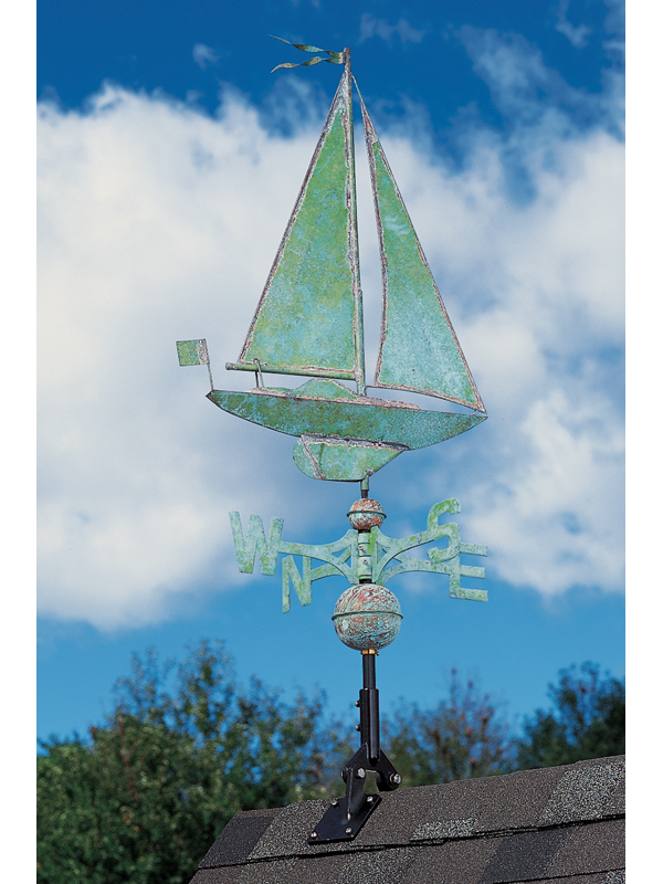 Copper Sailboat Weathervane-4181