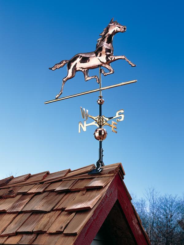 Copper Horse Weathervane-0
