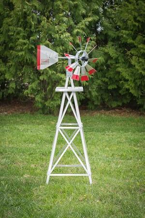 Four Foot Ornamental Aluminum Windmill-0