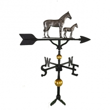"""Old Barn Rustic Co. 32"""" Deluxe Mare and Colt Aluminum Weathervane-1250"""