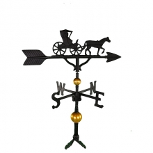 """Old Barn Rustic Co. 32"""" Deluxe Country Doctor Aluminum Weathervane-1339"""
