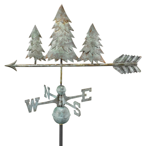 Pine Trees Pure Copper Handcrafted Weathervane -0