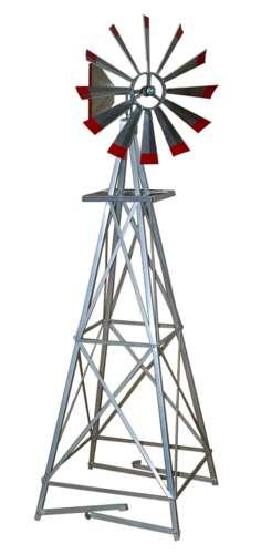 Six Foot Ornamental Aluminum Windmill-1624
