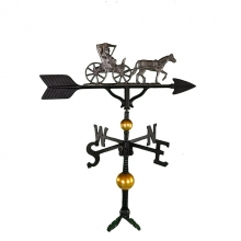 """Old Barn Rustic Co. 32"""" Deluxe Country Doctor Aluminum Weathervane-1338"""
