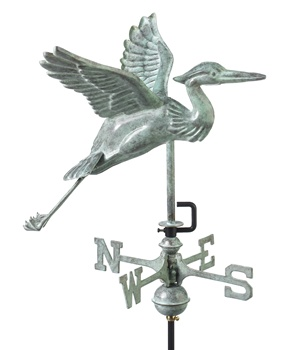 American Standard Blue Heron Weathervane-573