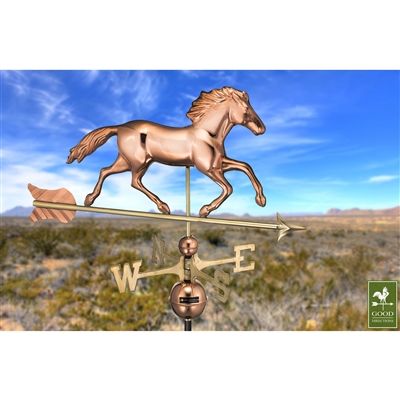 Smithsonian Running Horse 952 Weathervane By Good Directions -4634