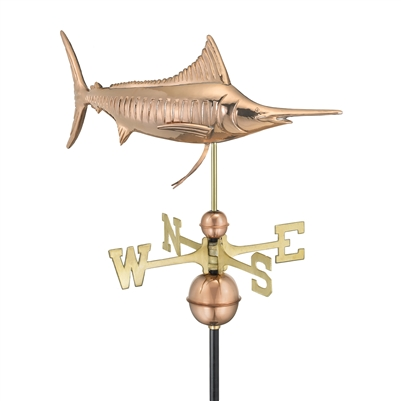 Marlin Outdoor Copper Weathervane -4535