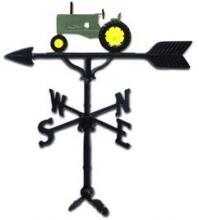 "Old Barn Rustic Co. 32"" Steel Tractor Weather Vane Green-0"
