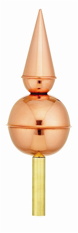 Good Directions Avalon Finial - Polished Copper-0
