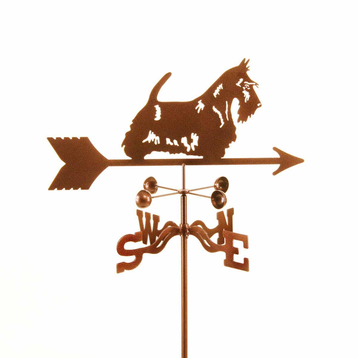 Scottie Dog with Bow Weathervane -0
