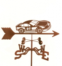 Race Car #7 Weathervane-0