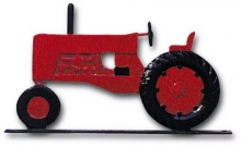 """Old Barn Rustic Co. 32"""" Steel Tractor Weather Vane Red-0"""