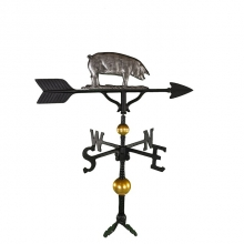 """Old Barn Rustic Co. 32"""" Deluxe Pig Aluminum Weathervane-1308"""