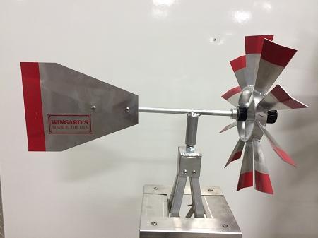 Eight Foot Ornamental Aluminum Windmill-4441