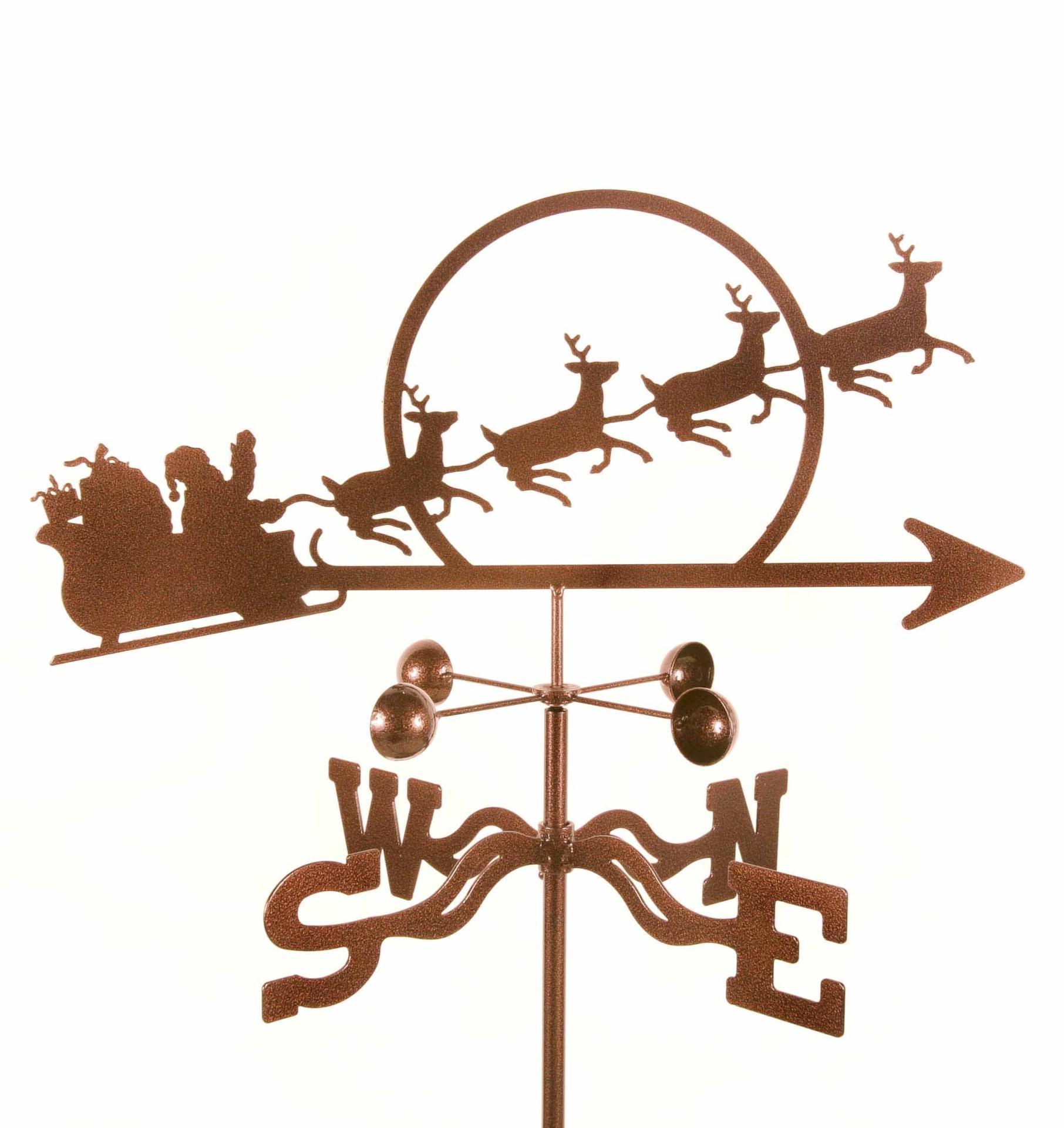 Santa with Sleigh Weathervane-0