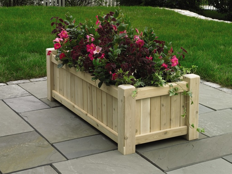 Good Directions Cedar Square & Rectangular Planters-317