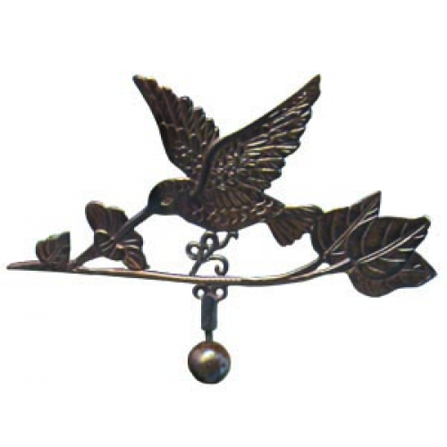 Steel Hummingbird Weathervane With Garden Stake-3992