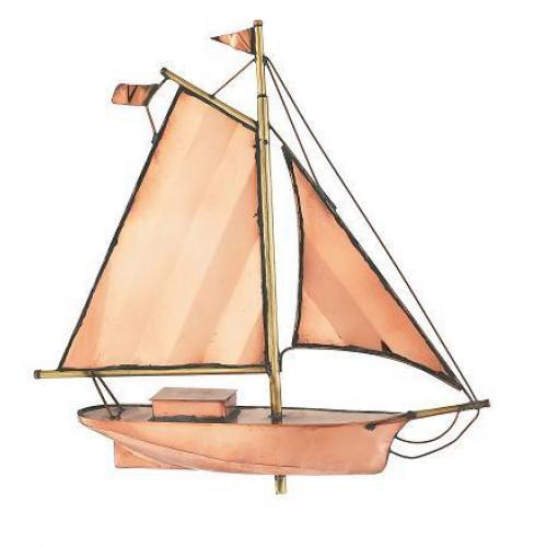 Small Sloop Copper Weathervane-3883
