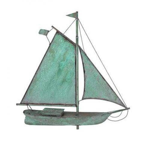 Small Sloop Copper Weathervane-3897