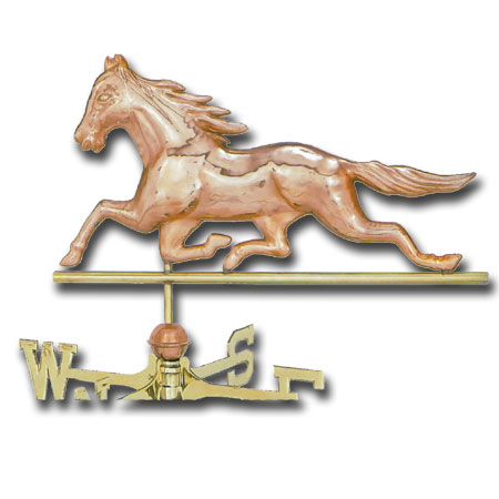 Running Horse Copper Weathervane-0