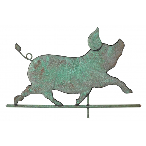 Whimsical Pig Copper Weathervane-3959