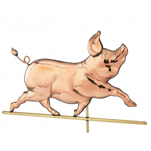 Whimsical Pig Copper Weathervane-3960