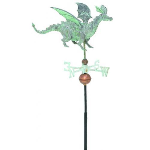 Dragon 3-D Garden Copper Weathervane-3863
