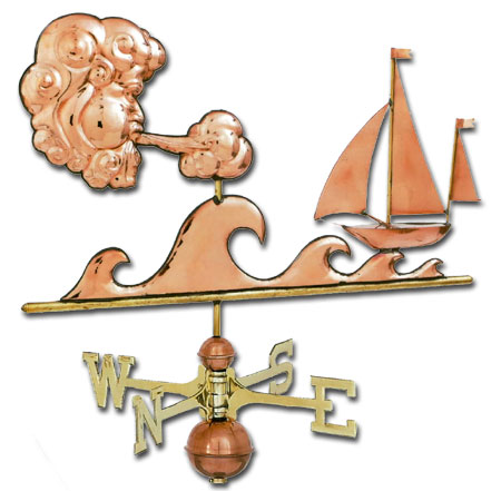 Sailors Delight Copper Weathervane-0