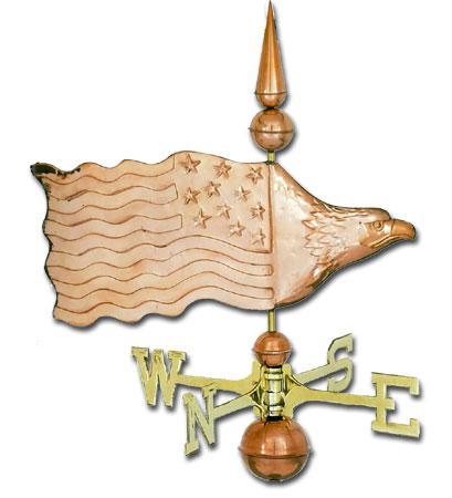 Eagle Banner Copper Weathervane-0