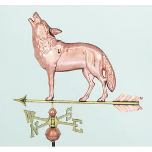 Wolf Copper Weathervane-3880