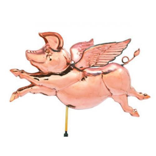 Flying Pig Copper Weathervane-0