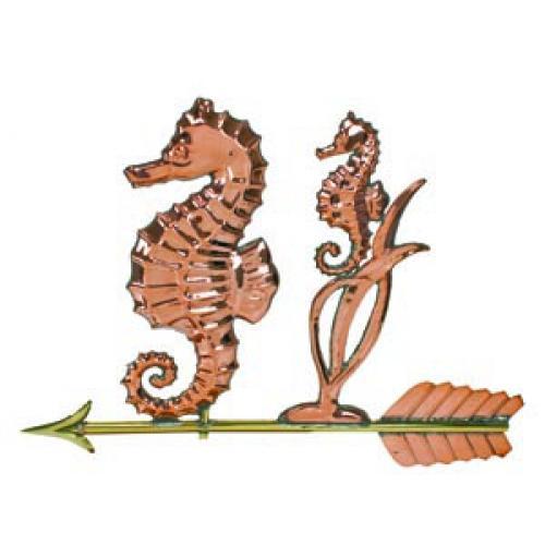 Seahorse Copper Weathervane-0