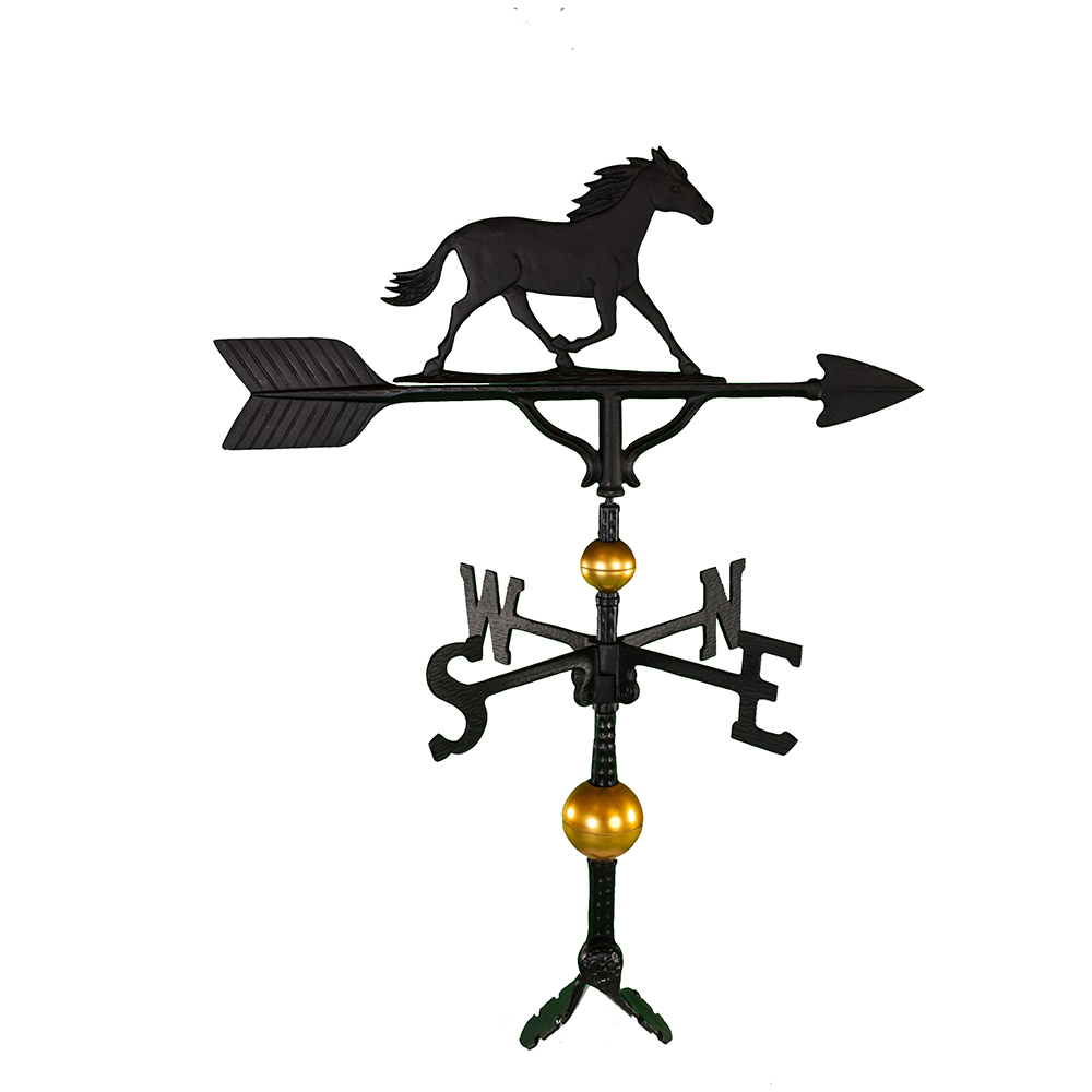"""Old Barn Rustic Co. 32"""" Deluxe Horse Weathervane -4129"""