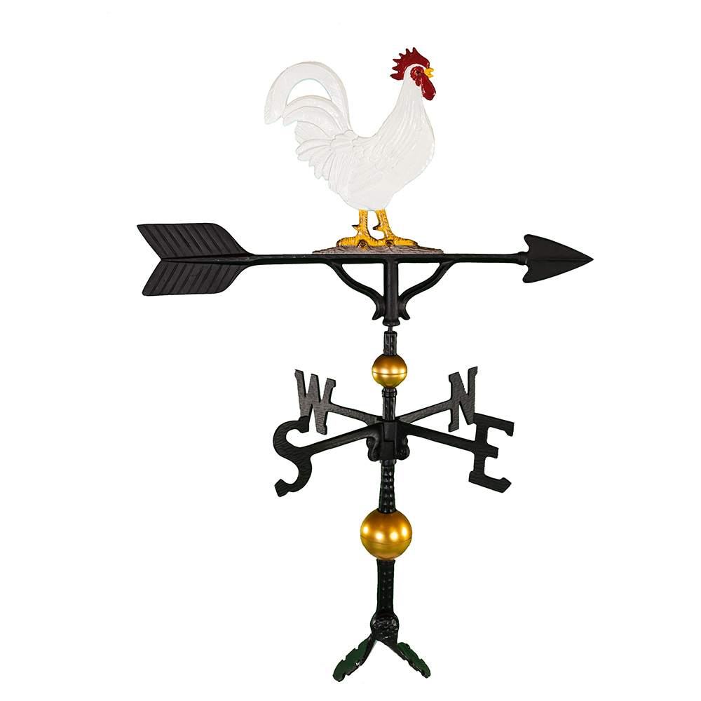 """Old Barn Rustic Co. 32"""" Deluxe Rooster Aluminum Weathervane-0"""
