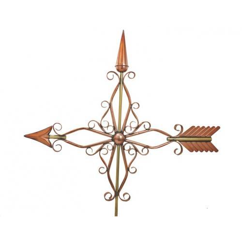 Victorian Arrow Polished Copper Weathervane-0
