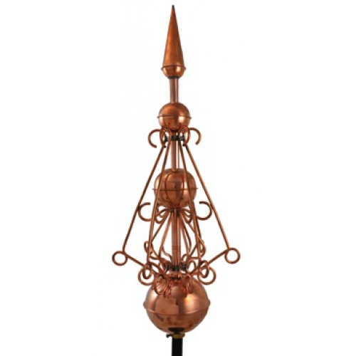 Victorian finial Polished Copper -0